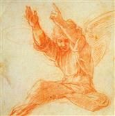 Raphael Angel Chalk Drawing